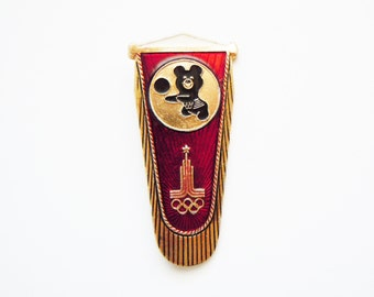 Vintage Russian pin The Olympic Mishka - the mascot of the 1980 Moscow Olympic Games