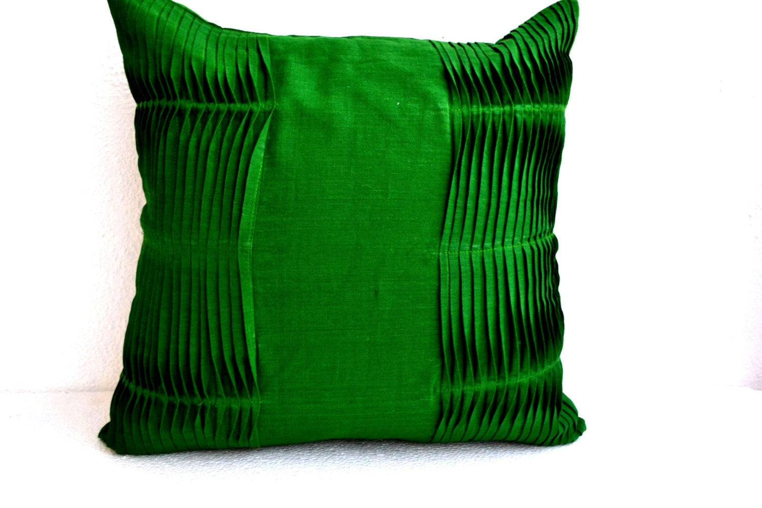 Decorative Pillows With Green : Emerald Green Pillow Cover Cotton Throw Pillow Cover Accent