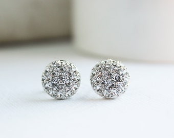 Silver Earrings, Silver Studs, White Gold Earrings, White Gold Studs, Bridal Earrings, Everyday Earrings