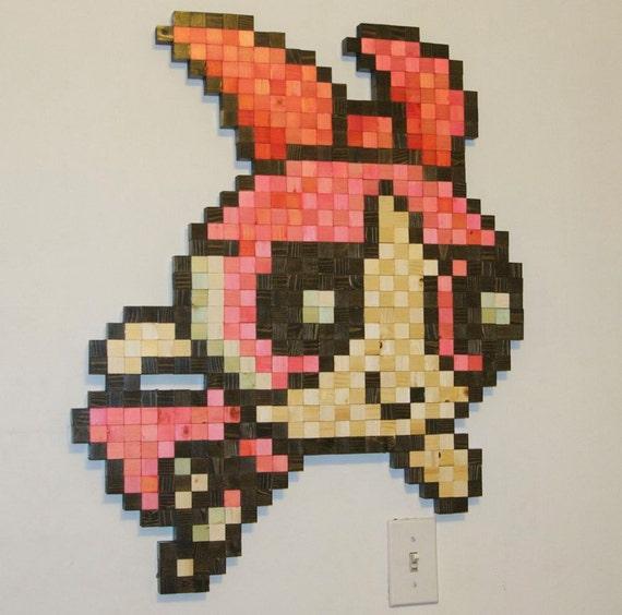 Items similar to Powerpuff Girls Blossom Wooden Pixel Wall