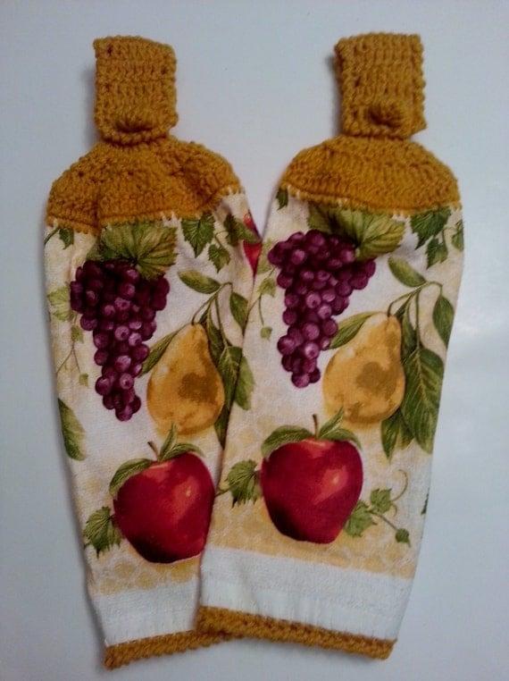 Kitchen Towels Hanging Towels Fruit Design Harvest Gold