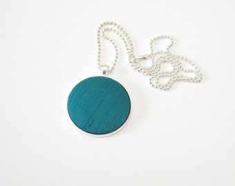 Teal statement necklace, 4th fourth silk wedding anniversary gifts for ...