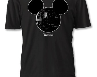 Death Star Mickey Star Wars Disney Shirt : Youth S - L