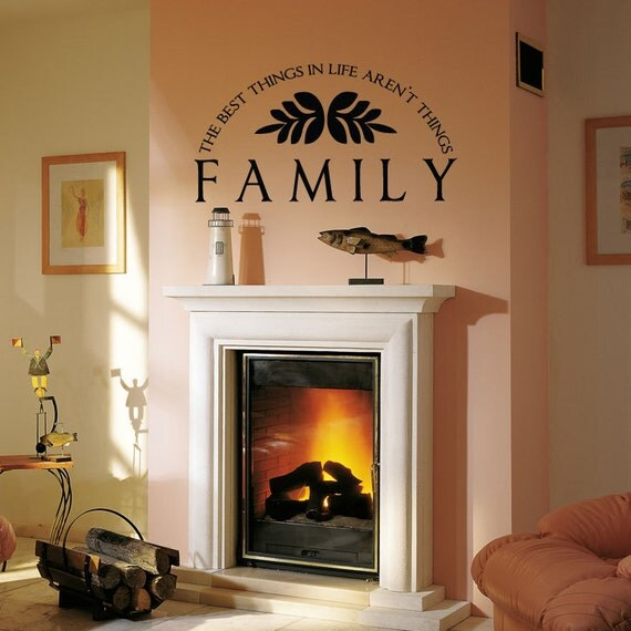 Foyer Room Quotes : Family wall quote room den living or by