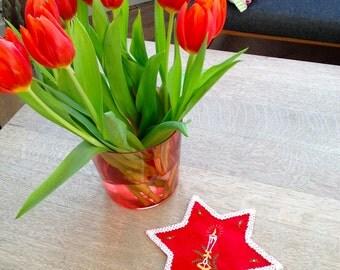 Christmas little star from Denmark -red 60s