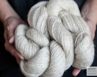 Leicester Longwool Natural White Wool Yarn