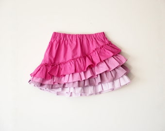 Shapla Ruffle Skirt PDF Sewing Pattern tutorial girls e-book, Sizes 0-3 months to 12 year included instant download handmade