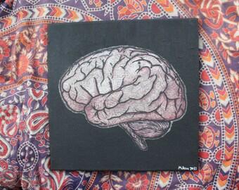 The Brain - Original acrylic painting on canvas - Textured