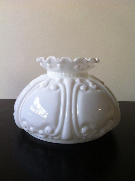 vintage dillard m smith co milk glass lamp shade by litasnook On dillards lamp shades