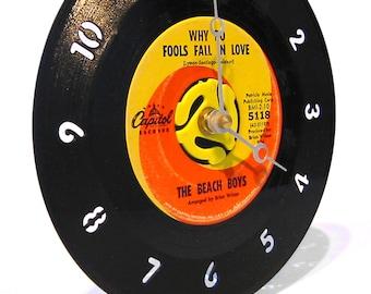 45rpm Record Desk Clock