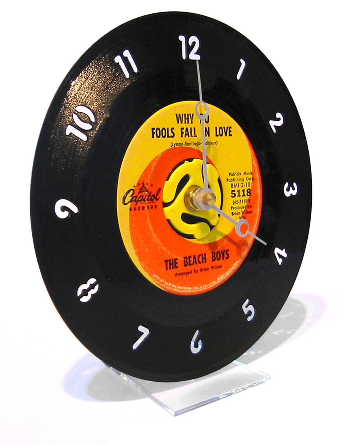 45rpm record desk clock
