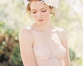 Wedding, Bridal Crown, Floral Headband, Halo, Bridal Headpiece, Bohemian Bridal Headband - Style 209