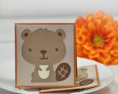 Adorable Little Beavers - Thank You Cards Childrens Cards Customer Thank You Cards  ( Set of 4)