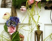 Mossy Bunnies Gone Wild wreath, celebrate spring, rectangular wreath, burlap frame, hydrangea, spring flowers & 5 leaping bunnies, unique