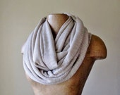 BEIGE Infinity Scarf - Neutral Sweater Scarf - Earthy Circle Scarf - Chunky Infinity Cowl