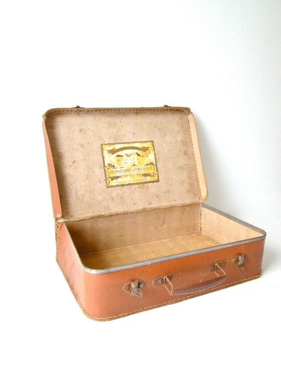 Brown Cardboard French Suitcase Small By Culturalpollination