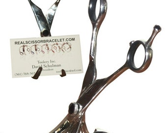 "Business Card Holder made from ""Real Scissors"""
