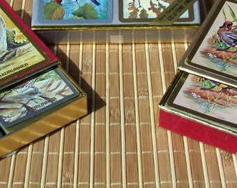 "Vintage ""CONGRESS"" Playing Cards 2 Boxed Sets Signed by Different Artists"