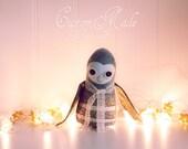 Custom Made Felt Owl OOAK Art Doll
