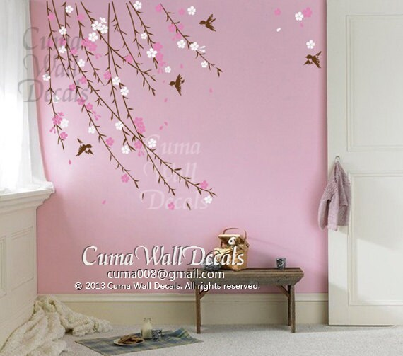 Chambre bebe fille idee decal children wall sticker nursery room