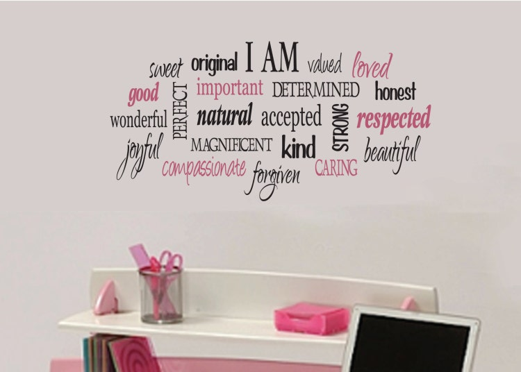 I Am Positive Word Collage For Girls Teen Girl By