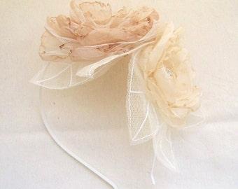 Wedding Accessories Bridal Head Piece Headband Rhinestone Pearl Wedding Flower Bouquet Pastel Romantic Bride Flower Ivory Champagne White