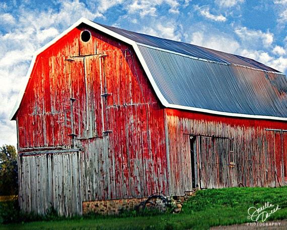 Photograph Decor Red Barn Photo Barn Photography By
