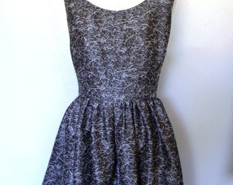 Silver Fit and Flare Morgan Dress