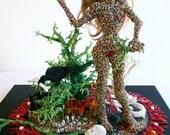 Art Object Sculpture Figural Bead Weaving Trees Mixed Media Beadwork