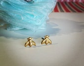 tiny bumble bee earrings. RESERVED order for R. in AUS.