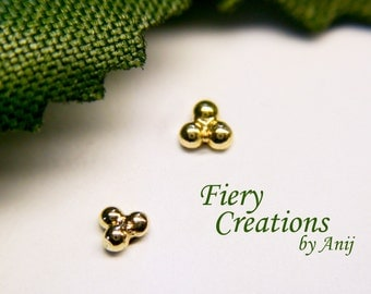 "Nose Screw or Tragus Stud ""Tiny Insect""- 18kt  SOLID yellow Gold"