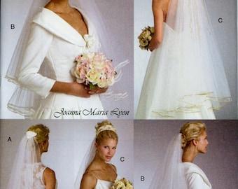 Bridal Veils Pattern Vogue V8374 Uncut Tiara Crown Cap Blusher Veils Fascinator Fingertip Veils Headpiece Wedding Accessories Sewing Pattern