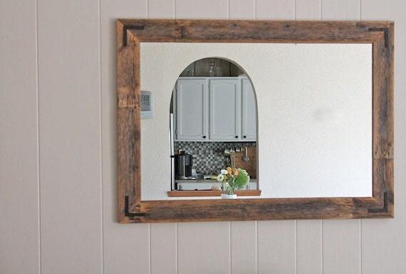 42x30 reclaimed wood mirror large wall mirror by hurdandhoney