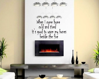 Wall Decal Pink Floyd... It's Good To Warm My Bones Beside Fire .. Time  Wall Art  Stickers Home Decor Office Decoration Removable Vinyl