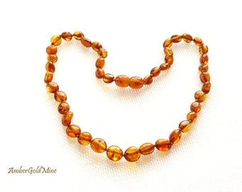 Baltic Amber teething necklace for children, Delicate Amber teething necklace for kids, amber necklace gift, children jewelry