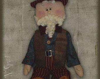 """Pattern: Sam - 23"""" Raggedy Uncle Sam Doll"""