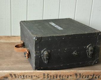Vintage WW II Military Industrial Radio Signal Field Case    SALE - was 148.00