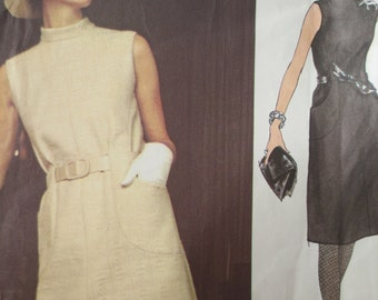 Vintage Vogue 2439 Sewing Pattern, Valentino Design, Mod Dress, 1970s Dress Pattern, Vogue Couturier, Designer Pattern, Bust 34, Sixties Mod