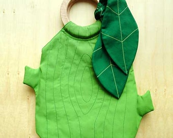 Handbag - The Woodlands Purse (Apple Green with Emerald Green Leaves)