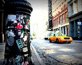 New York City Photography: New York Taxi Print 8x10 Street Art - Soho Street Print - New York City Print - Soho Photography - Taxi Photo