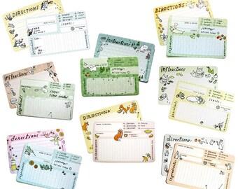 Bridal shower recipe cards - Handmade Recipe Cards - boygirlparty - bridal shower recipe card set, bridal recipe card bridal recipe cards