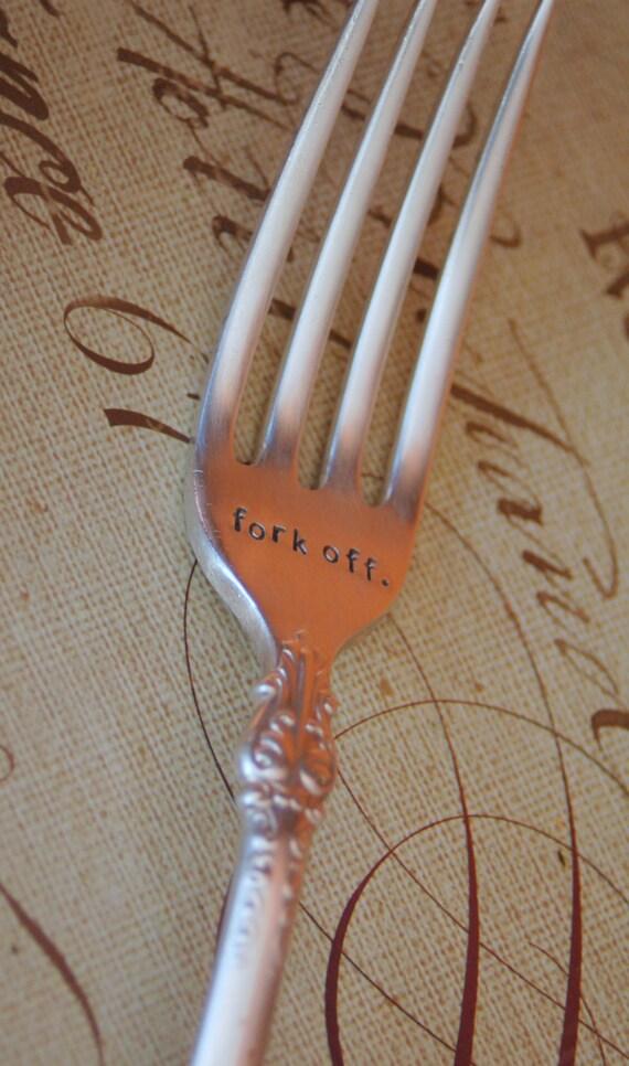 Fork Off Stamped Vintage Fork