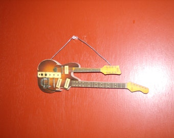 Double Guitar Wall Hanging