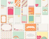 Color Me Happy Printable Journaling Cards. Instant Download.