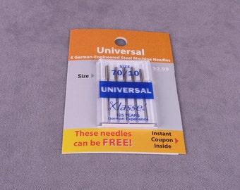 Klasse Universal Sewing Machine Needles 70/10 (KLU7010)