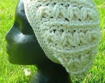 Cabled Slouch Hat Crochet Pattern