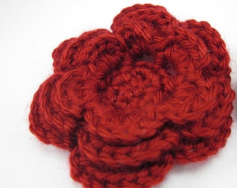 Crocheted Flower Clip - large