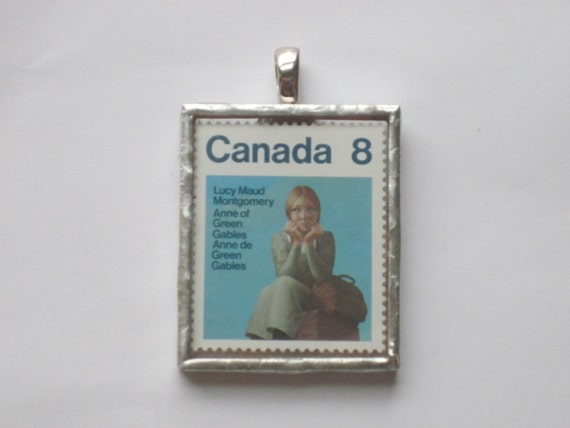 Postage Stamp Pendant - Lucy Maud Montgomery - Anne of Green Gables