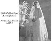 Items Similar To 1934 Vintage Depression Knit Wedding Gown