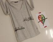 SALE - Marching Owls - Women's Long-sleeved Burnout t-shirt